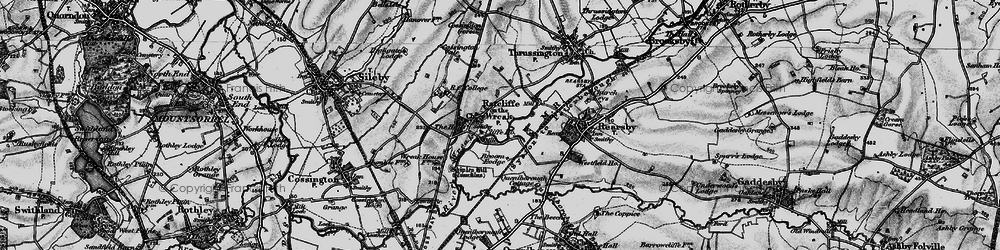 Old map of Lewin Br in 1899