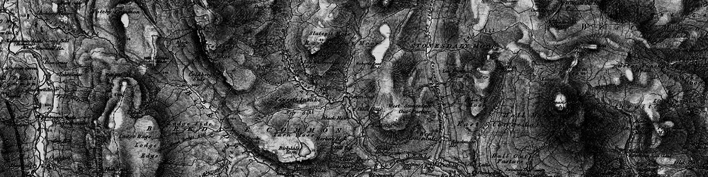 Old map of Whitsun Dale in 1897