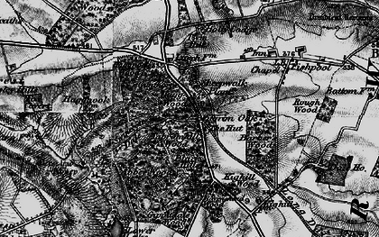 Old map of Newstead Abbey in 1899