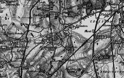 Old map of Baddiley Corner in 1897