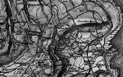 Old map of Latter Gate Hills in 1897