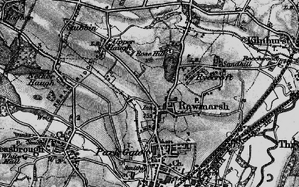 Old map of Rawmarsh in 1896