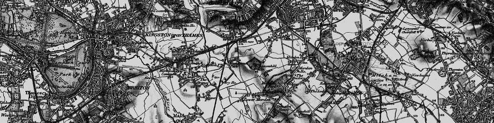 Old map of Raynes Park in 1896