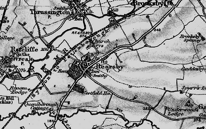 Old map of Rearsby in 1899