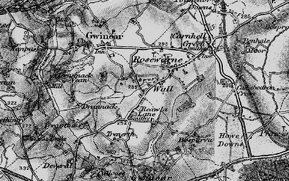 Old map of Reawla in 1896