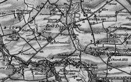 Old map of Wiza Beck in 1897