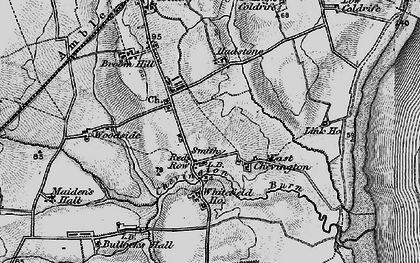 Old map of Red Row in 1897