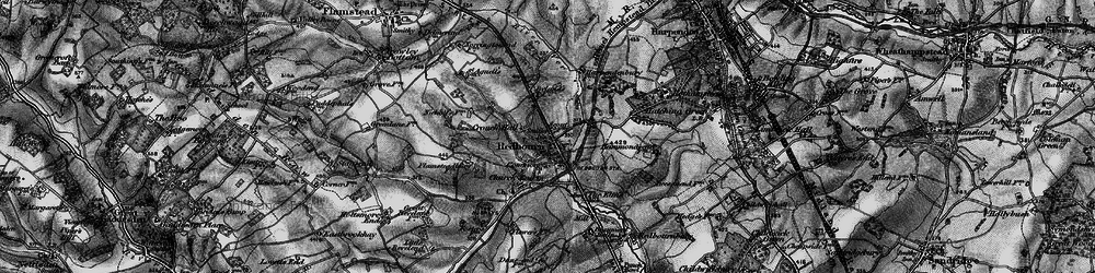 Old map of Redbourn in 1896
