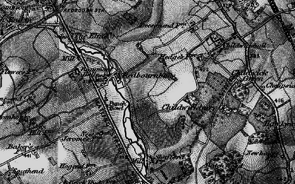 Old map of Redbournbury in 1896