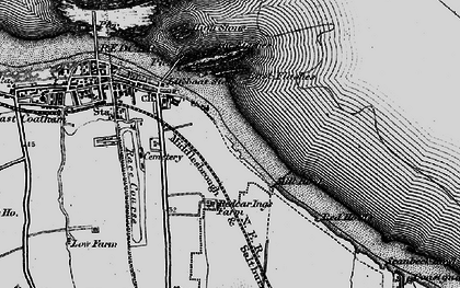 Old map of Redcar in 1898