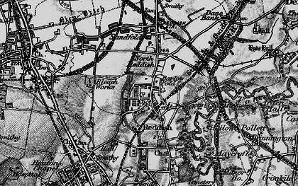 Old map of Reddish in 1896