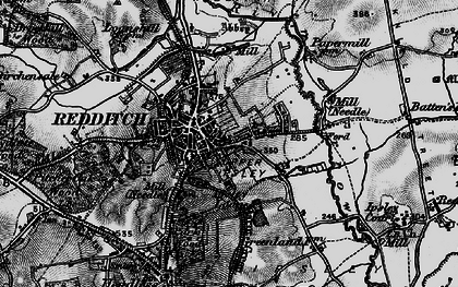 Old map of Redditch in 1898