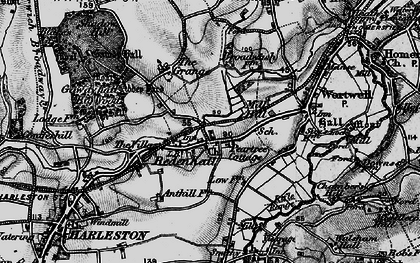 Old map of Abbey Yard in 1898
