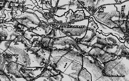 Old map of Acton Hill in 1897