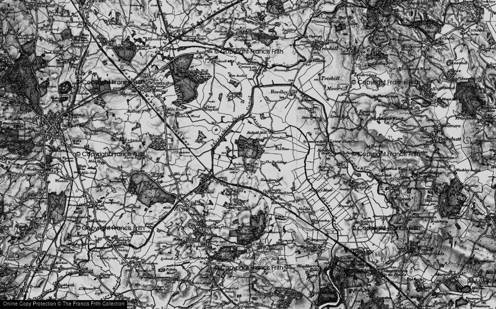 Old Map of Historic Map covering Woodhouse in 1897