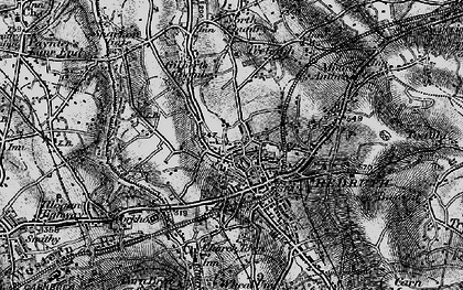 Old map of Redruth in 1895