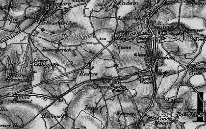 Old map of Redtye in 1895