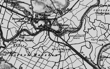 Old map of Reedham in 1898