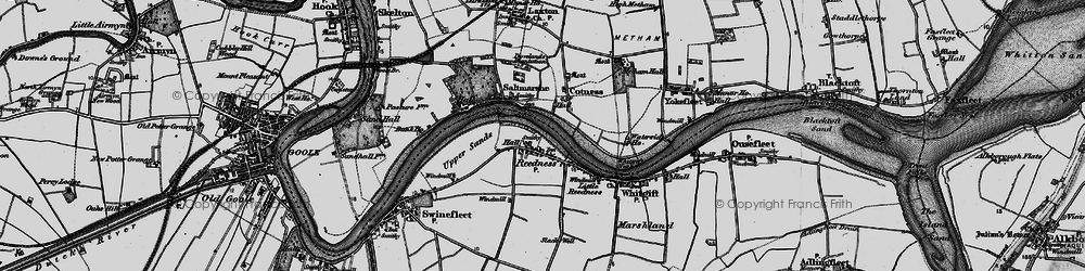 Old map of Whitgift Ness in 1895