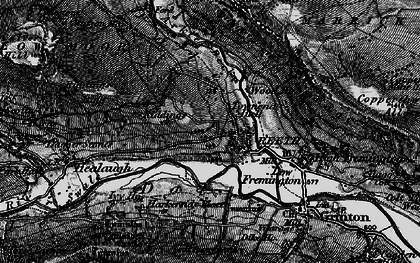 Old map of Swaledale in 1897