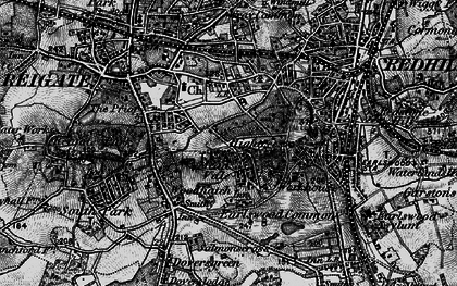 Old map of Reigate in 1896
