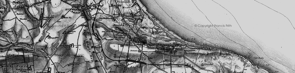 Old map of Reighton in 1897
