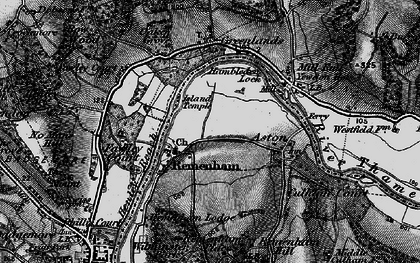 Old map of Remenham in 1895