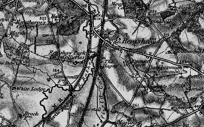 Old map of Renishaw in 1896