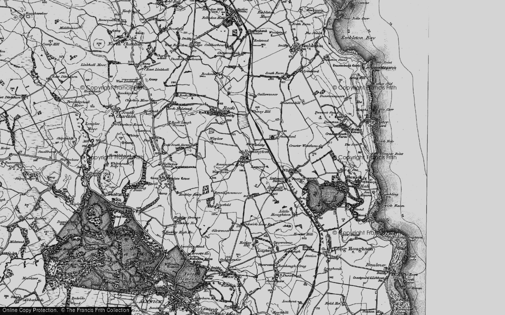Old Map of Historic Map covering Lee Moor in 1897
