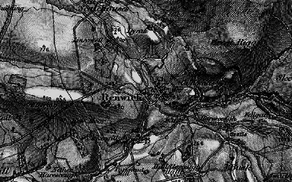 Old map of Lincowell in 1897