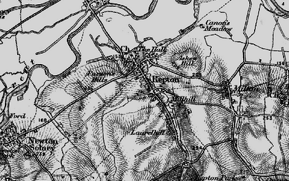 Old map of Repton in 1895