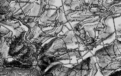 Old map of Rescassa in 1895