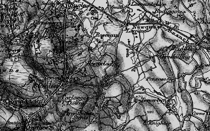 Old map of Rescorla in 1895