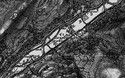 Old map of Resolven in 1898