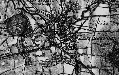Old map of Retford in 1899
