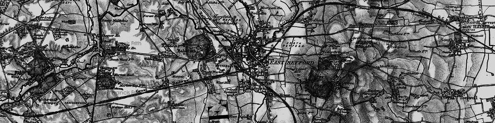 Old map of Retford in 1899
