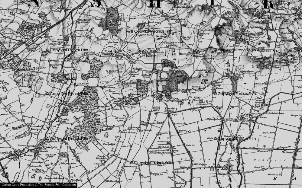 Old Map of Revesby, 1899 in 1899