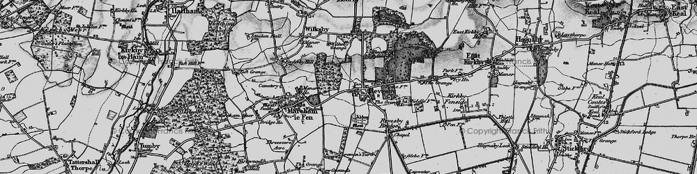 Old map of Revesby in 1899