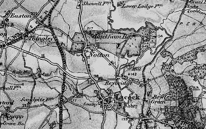 Old map of Reybridge in 1898