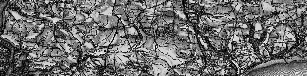 Old map of Langdon in 1898