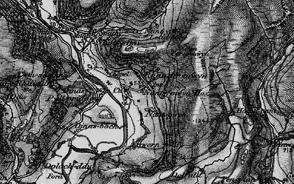 Old map of Afon Lwynor in 1898
