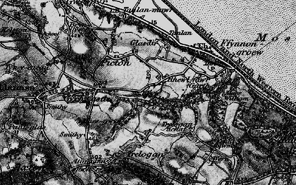 Old map of Afon y Garth in 1896