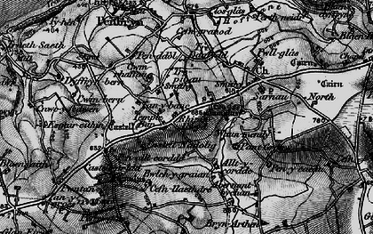 Old map of Allt y corde in 1898
