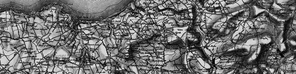 Old map of Allt y corde in 1898