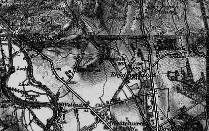Old map of Rhiwbina in 1898