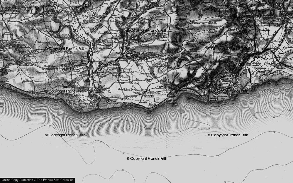 Old Map of Rhoose, 1897 in 1897