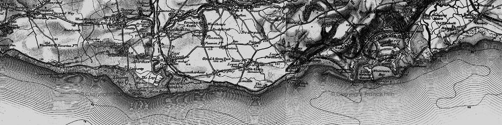 Old map of Rhoose in 1897