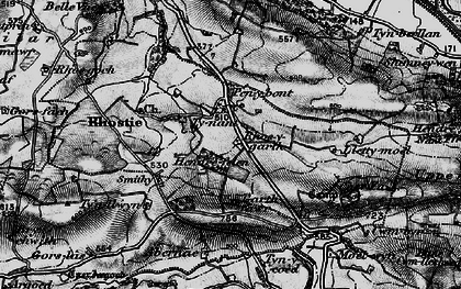 Old map of Abernac in 1898