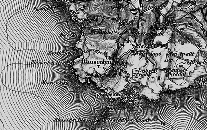Old map of Rhoscolyn in 1899