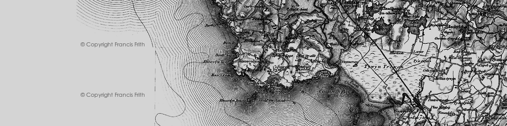 Old map of Ynys Traws in 1899